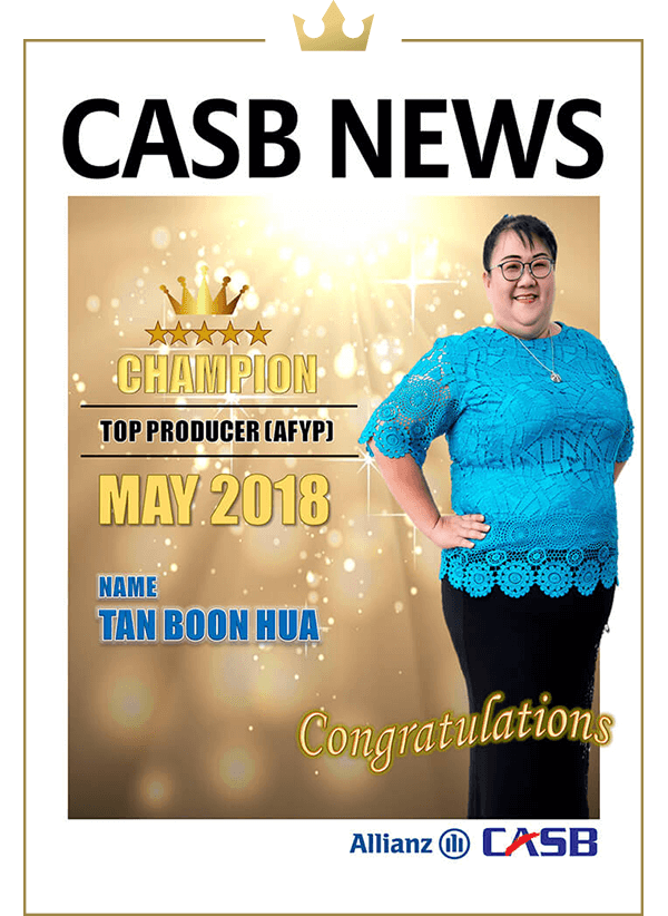 Top Producer (AFYP) Apr 2018 (Champion)-Siah Ching Ching