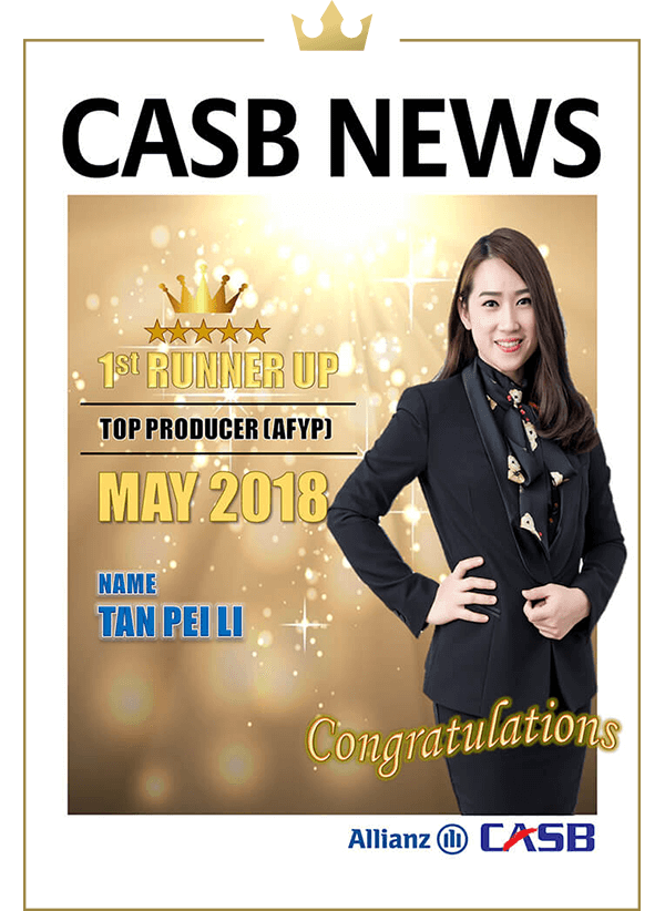 Top Producer (AFYP) Apr 2018 (1st Runner Up)-Tan Boon Hua