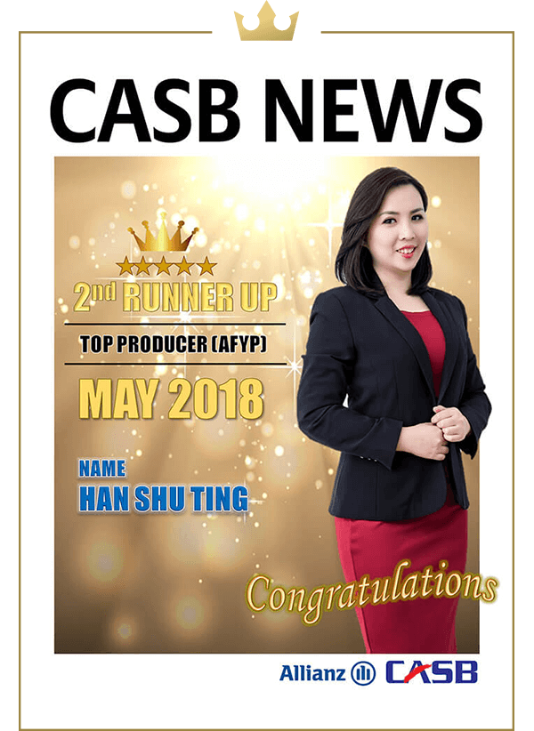 Top Producer (AFYP) Apr 2018 (2nd Runner Up)-Chin Jin Hock